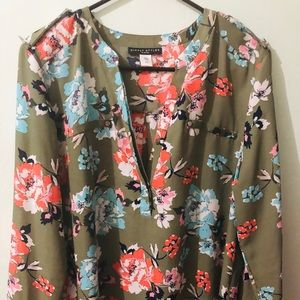 Green olive blouse